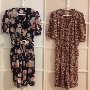 Bundle of 2 Vintage Floral Dress and Romper